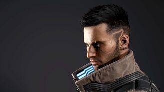 V model 3D w wersji męskiej 2 (Cyberpunk 2077)
