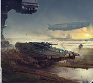 Cuarta Guerra Corpo vehículos