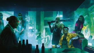 Cyberpunk 2077 doing business (concept art)