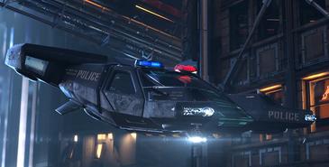 Cyberpunk 2077 pojazd policyjny (concept art)