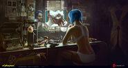 Concept art - Cyberpunk 2077