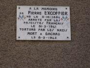 Gedenkteken Pierre Excoffier - Albertville