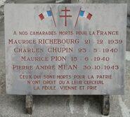 Plaque commémorative Nicey