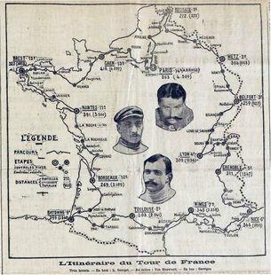 1907 TdF Parcours