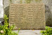 Sławutycz — jedna z tablic na Pomniku Ofiar Awarii CzAES