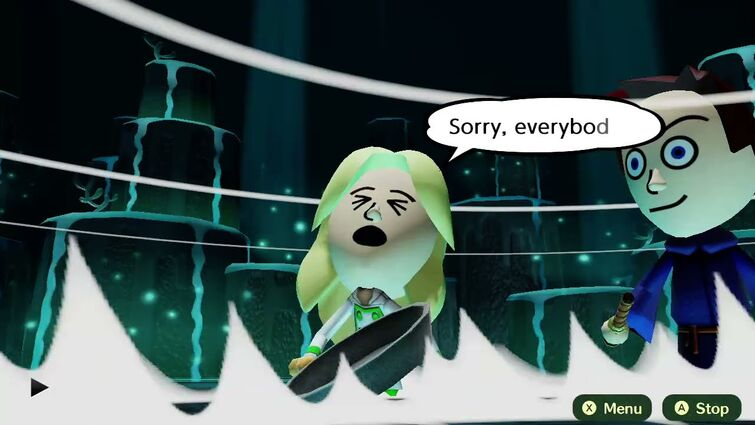 Miitopia - Henry kills his girlfriend with Out of Tune