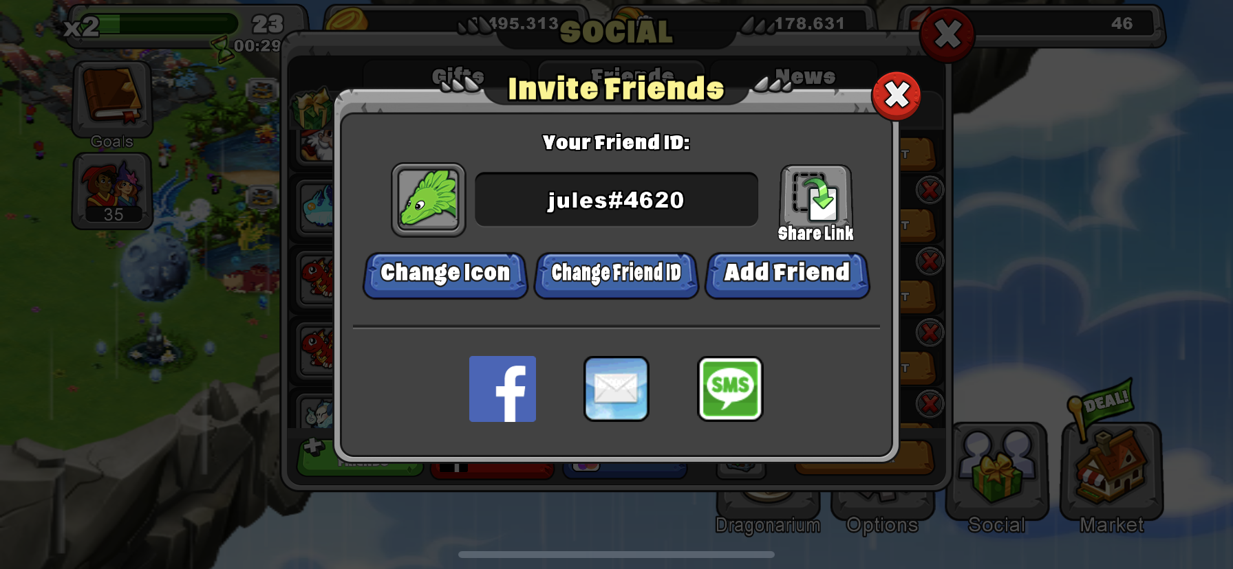 Hi, I changed my ID again lol I gift daily and I have a few cool dragons you might want to breed :)