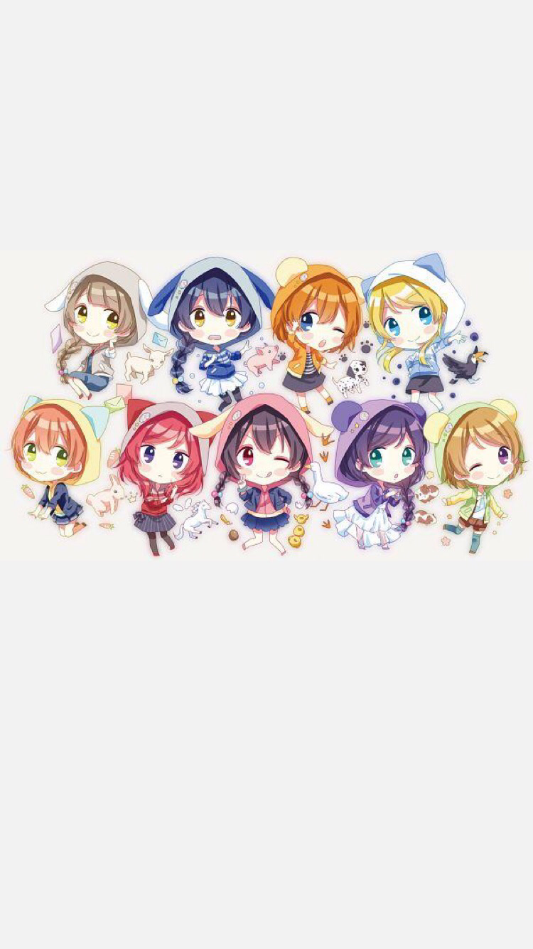 Love Love School Idol Festival Wallpaper Muse Kawai Chibi Chara