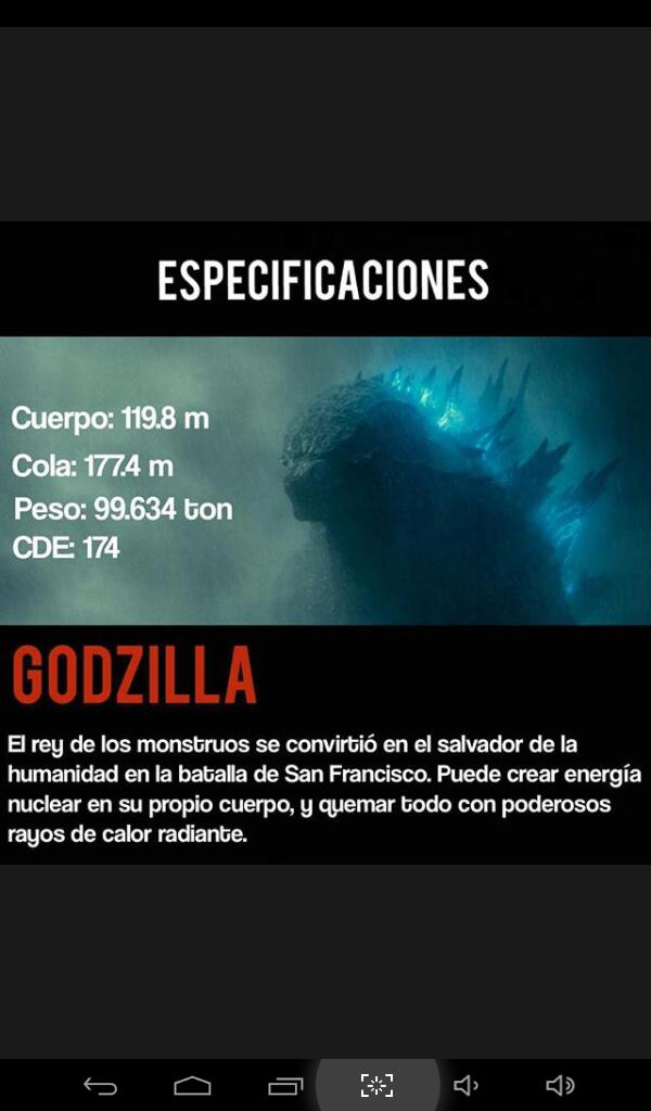 Información de Godzilla