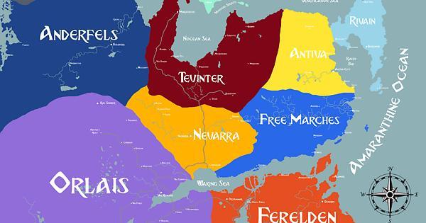 Thedas Political Map Fandom