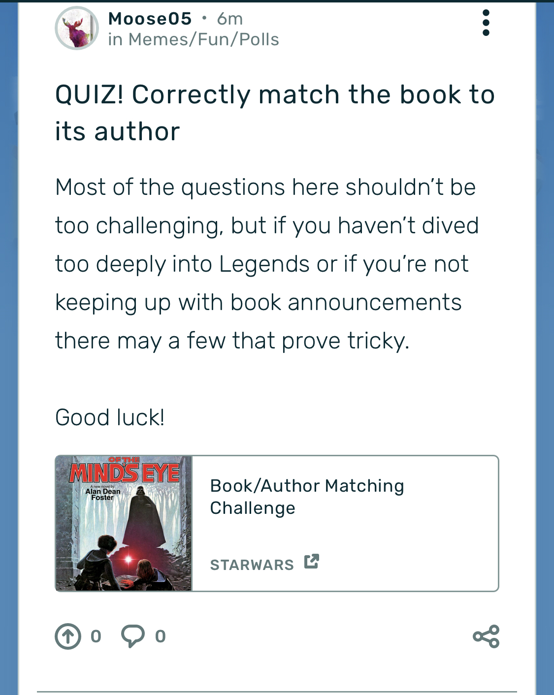 QUIZ! Correctly match the book to its author (UPDATE IN