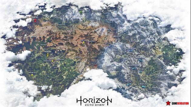 Horizon Zero Dawn Karte Energiezellen.Hzd Karte Fandom