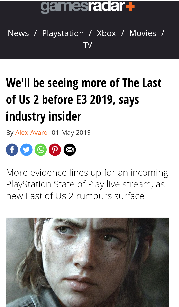 TLOU 2 News this month? First week of June?