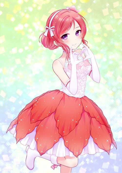 (Since The Love Live Fandom page won't let me post this)   Happy Birthday Maki! (Credit to artist)