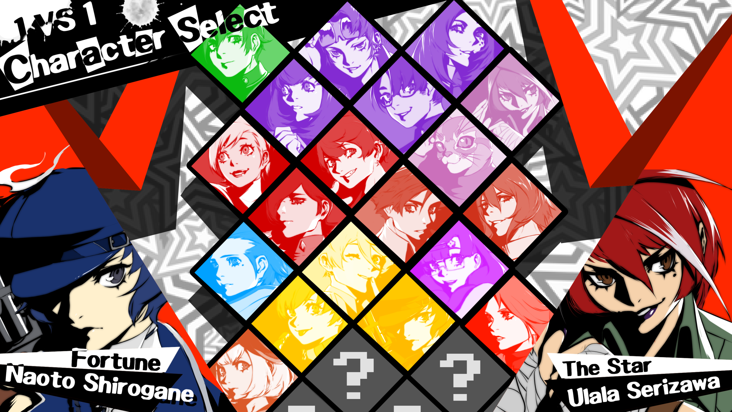 My dream game. Atlus MAKE IT HAPPEN. Made with my drawings and all done myself (except the stars)