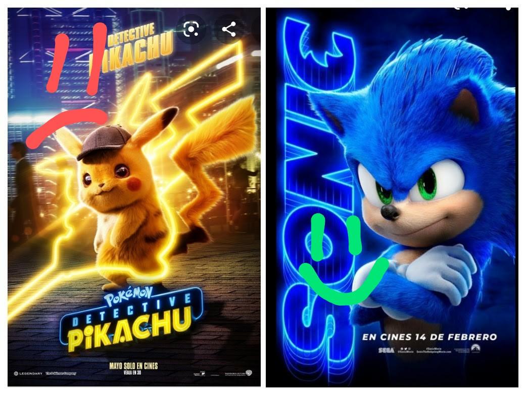 """Ni """"Pokemon Detective pikachu"""" Se compara con""""Sonic La pelicula"""""""
