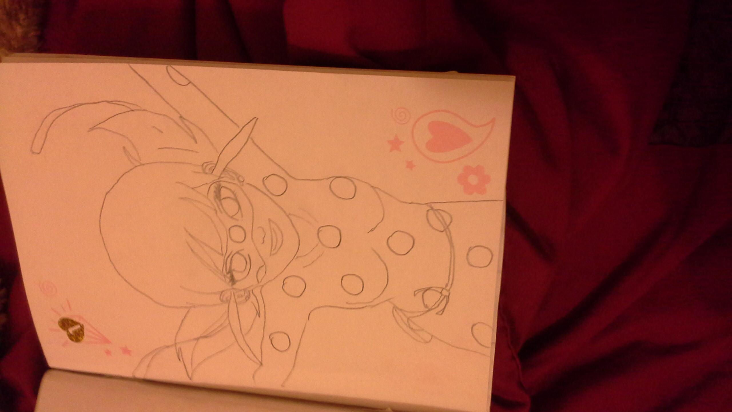 I also drew ladybug