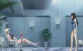 S2E8 Oreille and Misaki at pool