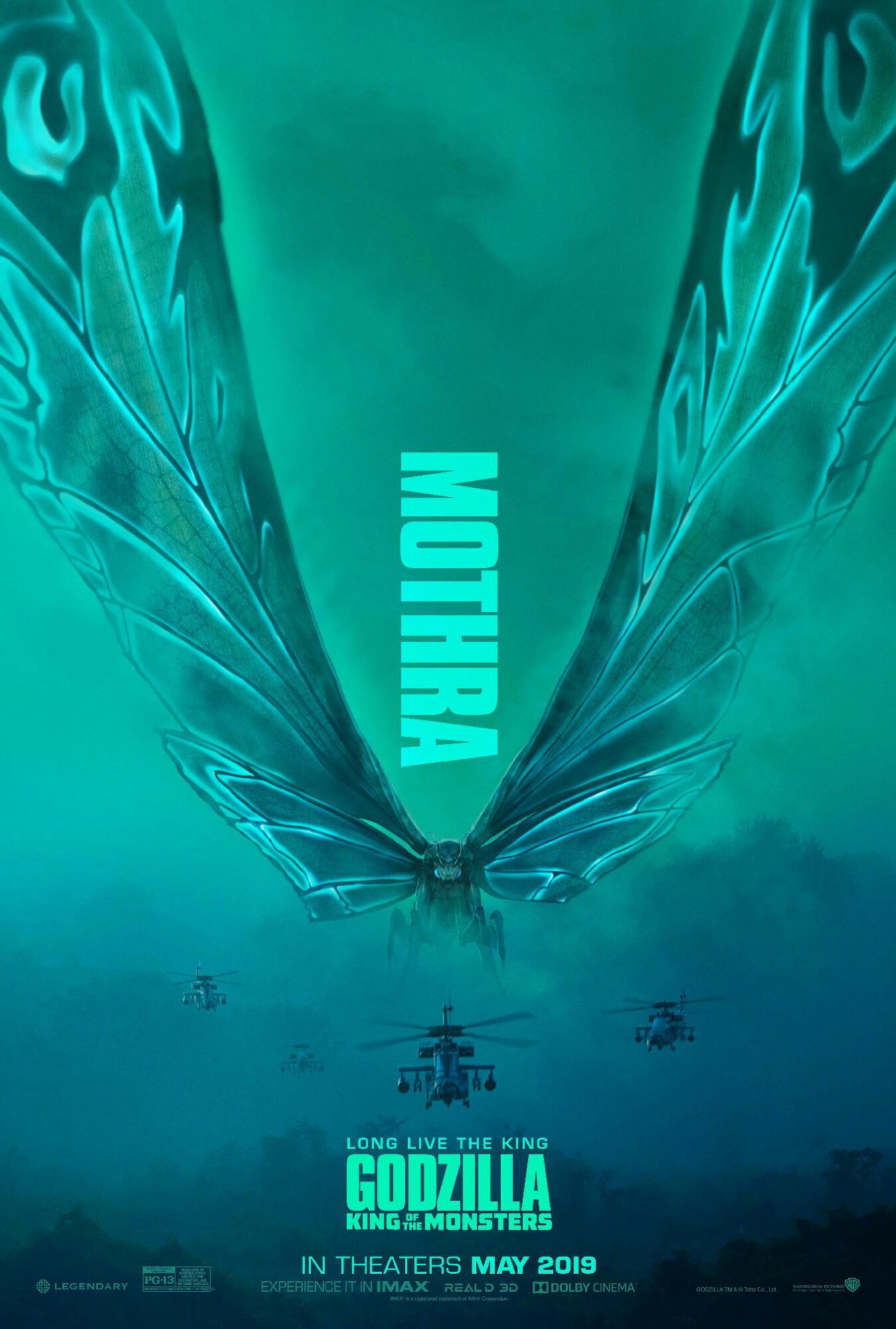 Poster 3 de mothra de godzilla el rey de los monstruos 2019