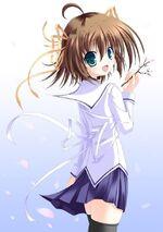 Nemu holding a flower