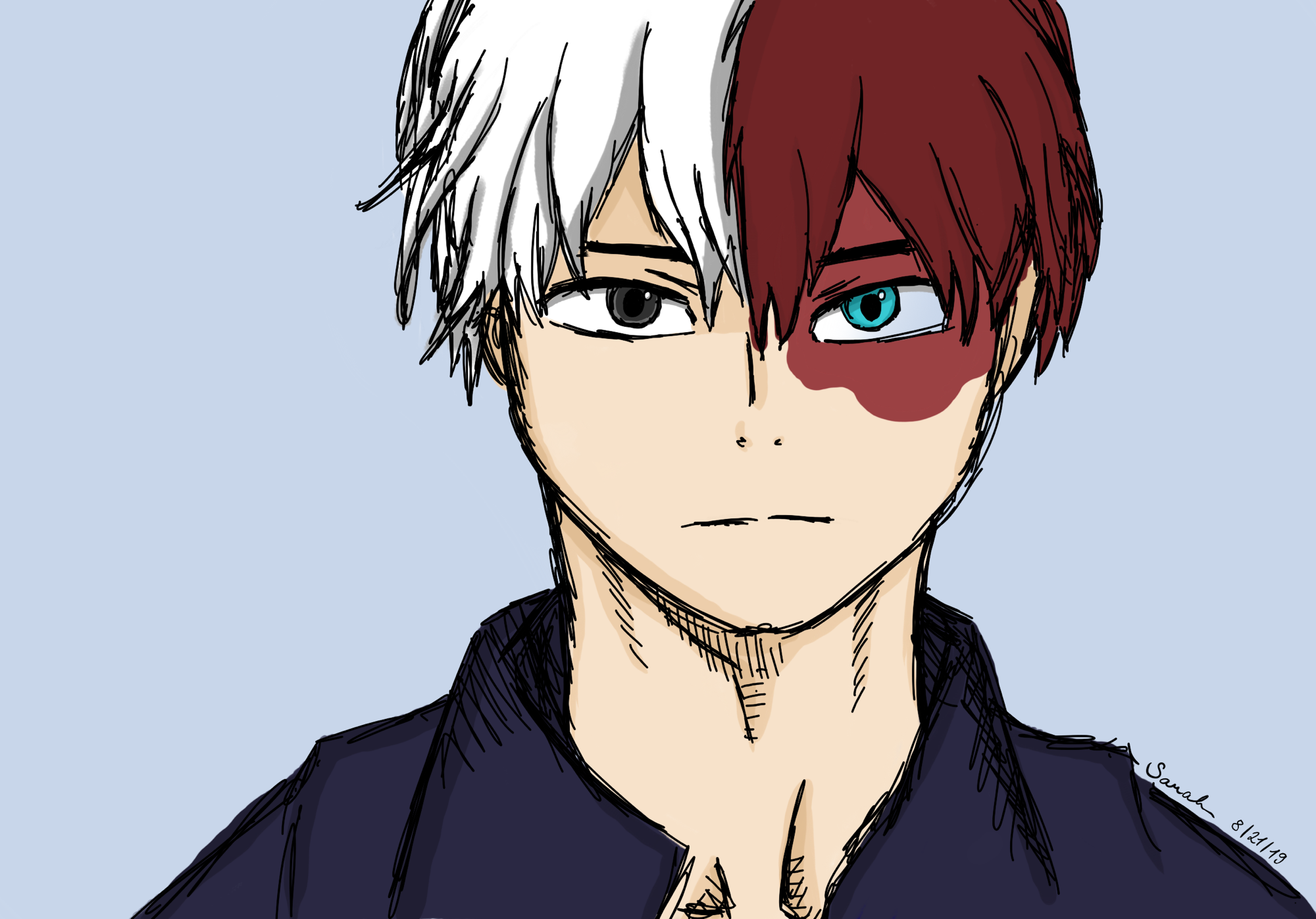 I Tried To Draw Shoto Todoroki Uwu Fandom