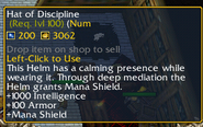 Hat of Discipline