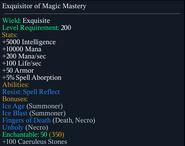 Exquisitor of magic mastery