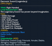 Daemonic Sword (Legendary)