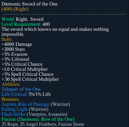 Daemonic Sword of the One