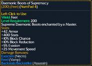 Daemonic Boots of Supremacy