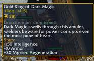 Gold Ring of Dark Magic