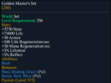 Golden Master's Set
