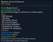Daemonic Sword (Ultimate)