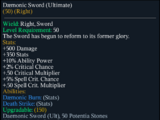 Daemonic Sword(Ultimate)