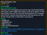 King Robaelic's Set