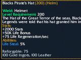 Blacks Pirate's Hat
