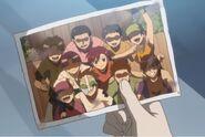 Yanagin's team photo anime