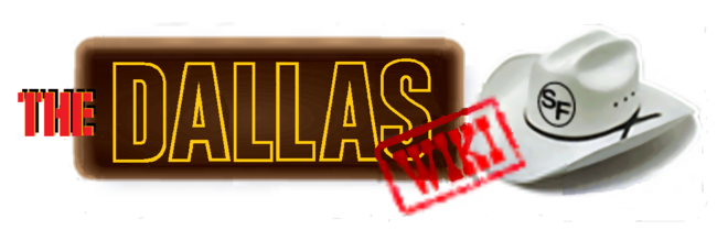 Dallas Wiki White Brown wordmark.png