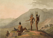 Bushmen Hottentots armed for an expedition