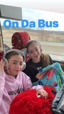 811 GiaNina and Hannah on the bus