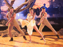 Ginger, Val and Artem S22 Week 9 Paso Doble Trio 1.jpg