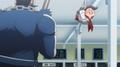Danganronpa 3 Side Despair Episode 01 Teruteru Hanamura tied up by Chisa and Nekomaru.png