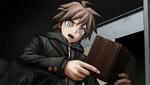Danganronpa 1 CG - Makoto Naegi reading pre-game Kyoko Kirigiri's pocketbook (English) (1)