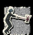 Danganronpa V3 Shuichi Saihara Death Road of Despair Sprite (Hammer) 07