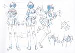 Danganronpa 3 - Character Profiles - Komaru Naegi (Sketches)