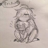 Sketch de Misaki et Takumi Mitomo Sasako chibi