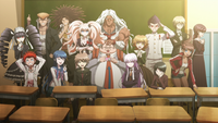 Danganronpa the Animation (Episode 13) - Junko revealing the two year memory wipe (44).png