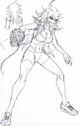 Danganronpa 3 - Character Profiles - Akane Owari % 28Despair design sketches% 29