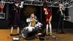 Danganronpa 1 CG - Toko, Aoi, Byakuya, and Yasuhiro taking apart Monokuma