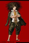 Danganronpa 1 Fullbody Profile Yasuhiro Hagakure
